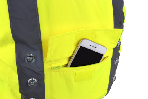 Waterproof pocket for easy access to essentials such as keys, phone or wallet